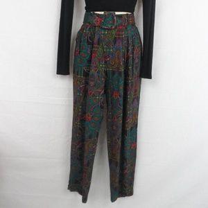 VTG Paisley Boho Print Pants
