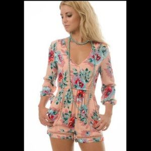 NWT MINK PINK Parade about cross front playsuit
