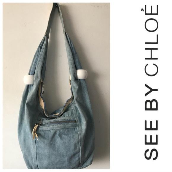 a2f1a95250c See By Chloe Bags | See By Chlo Denim Hobo Bag 598 | Poshmark