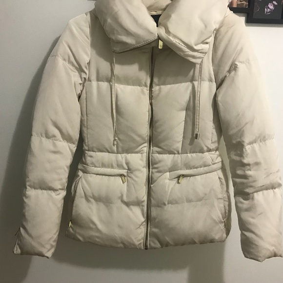 74994a654 Zara women puffer down jacket S off white