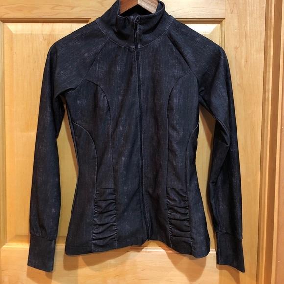 94adacb8d769b 90 Degree By Reflex Jackets & Blazers - Black Distressed Yoga Jacket. 90  degrees by
