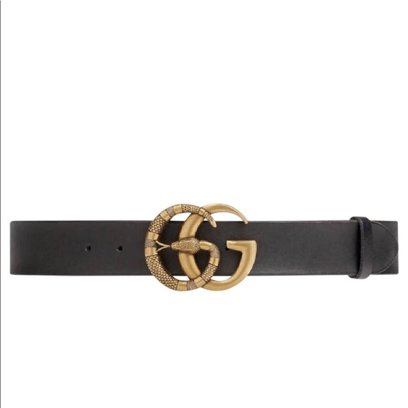 f9500ffba3b Gucci Accessories - Authentic Gucci Leather Belt Double G Snake 85