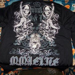 MMA Elite Strength Large Black Full Zip Jacket!