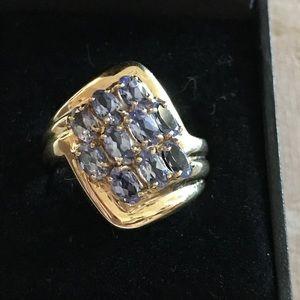 Tanzanite Ring Set in 14k $ FIRM
