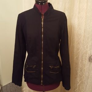 XCVI Cotton & Spandex Zip Front Jacket
