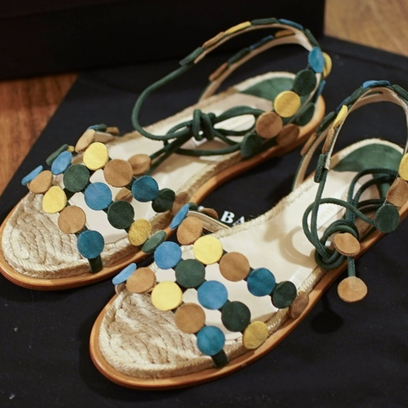 18f4636ccc2 PALOMA BARCELÓ ANTIBES MULTICOLORED SUEDE SANDAL