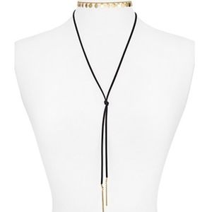 AQUA layered disc choker necklace NWT!