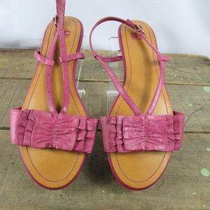 BC foot wear size 6.5 berry ruffled sandals