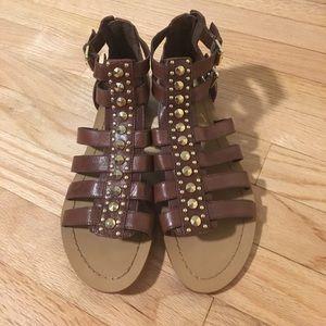 Marc Fisher Brown Gladiator Sandals