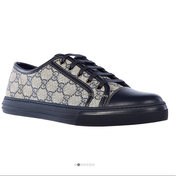 b3284c40b Gucci Other - Gucci men's shoes leather sneakers supreme blue💙