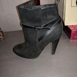 Beautiful Aldo booties in black waxed suede