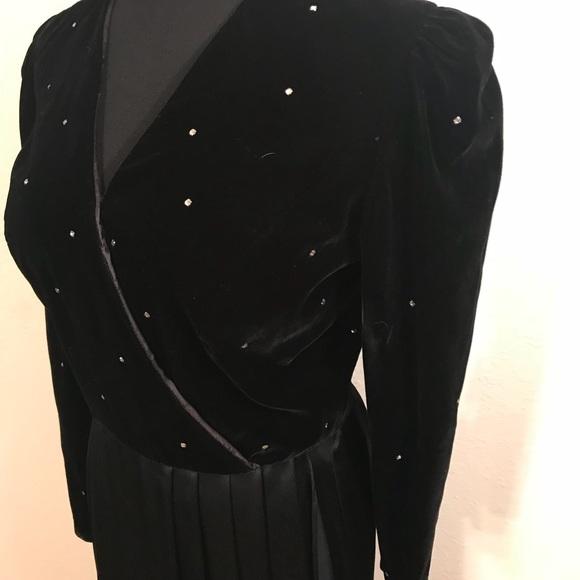 Vintage Dresses - Beautiful vintage velvet rhinestone dress
