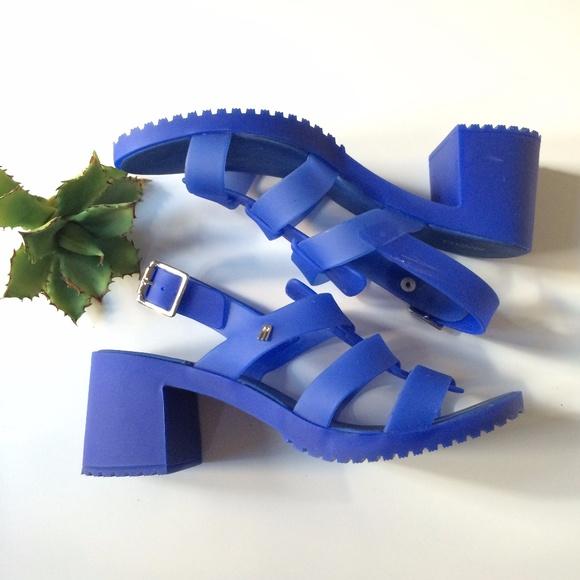 4650f01a5f88 Melissa Flox High Blue Heel Gladiator Sandals. M 59f94192f0137d5b1503d500
