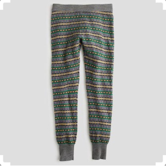 31% off J. Crew Pants - J. Crew FAIR ISLE LEGGINGS pewter holiday ...
