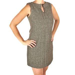 Houndstooth Wool Mini Dress