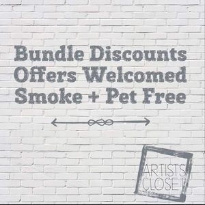 Bundle discount, offers and custom orders welcome!