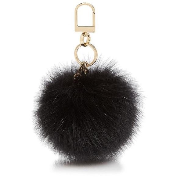 Fur Pom Pom key fob black 37860c6474d4
