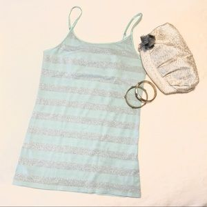 NWOT Mint & Silver Tank Top Mossimo