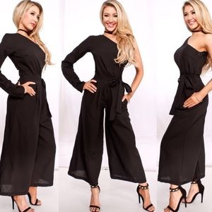 Pants - Cold Shoulder Jumpsuit
