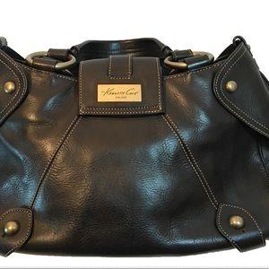 Kenneth Cole Black Leather Satchel