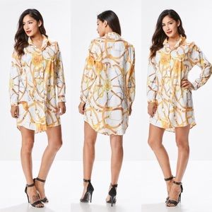 Dresses & Skirts - Gold Chain Shirt Dress