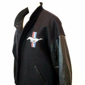 lamasz sport vintage ford mustang wool leather varsity. Black Bedroom Furniture Sets. Home Design Ideas