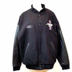 Vintage Ford Mustang Wool Leather Varsity Jacket