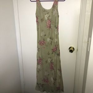 Beautiful floral dress w cover sz 2p by Virgo