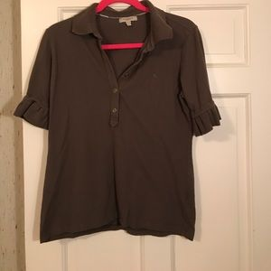 Authentic Burberry polo shirt with ruffle sleeves