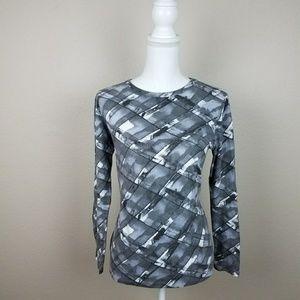 Grey Geometric Longsleeve Tshirt Simply Vera Wang