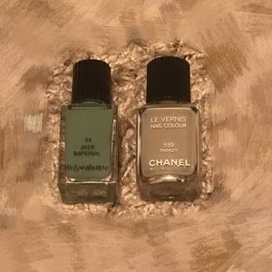 Chanel ysl nail polish duo