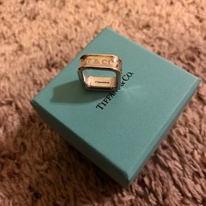 Authentic Tiffany 1837 Square ring
