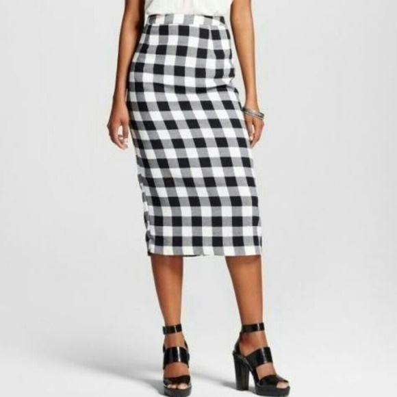 6142392d67 target Skirts | Sale Whowhatwear X Gingham Pencil Skirt | Poshmark
