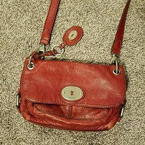 Fossil leather crossbody purse