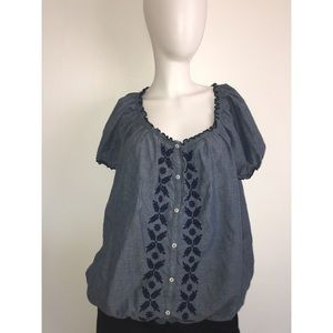 Chambray Short Sleeve Shirt 2X