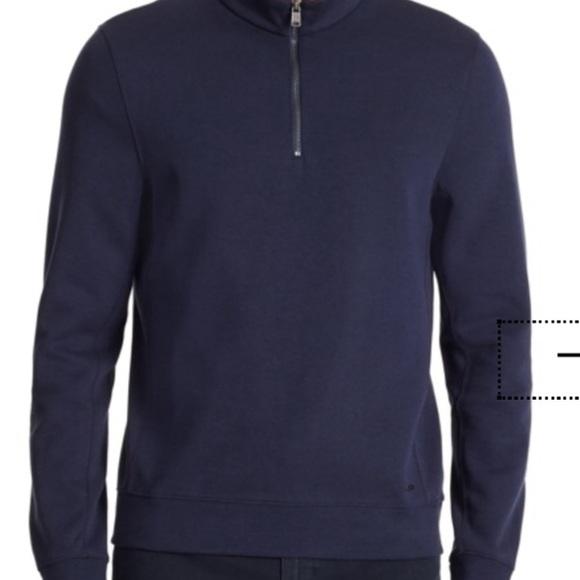589572505 Hugo Boss Sweaters | Mens Pullover Sweater With 14 Zip Sz M | Poshmark