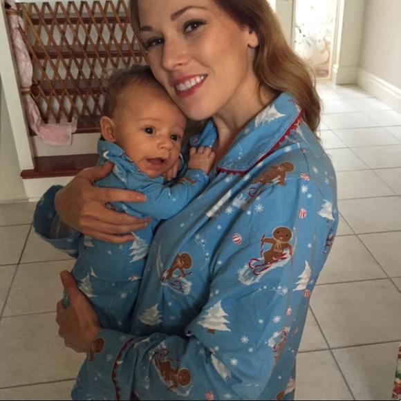 Family Christmas Pajamas Blue.4 Set Family Christmas Pjs
