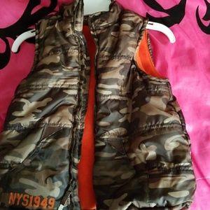 Kids winter vest camouflage