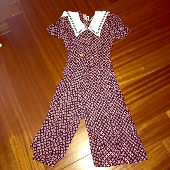 6a3f9e89f92a Maggy London Pants - Vintage Matt London culottes jumpsuit 🇫🇷🍇🍒