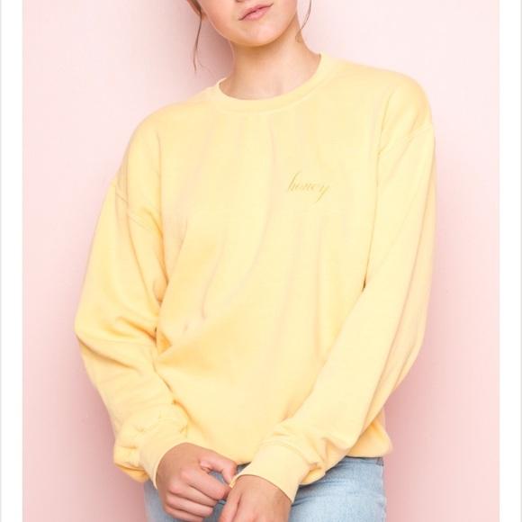 Brandy Melville Tops Honey Sweatshirt Poshmark