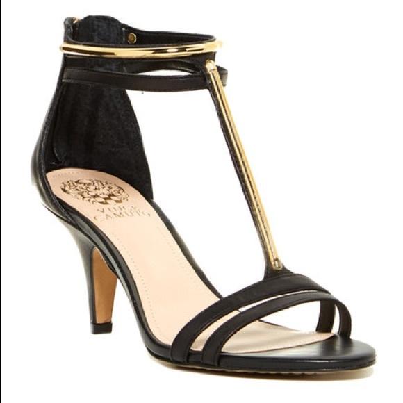 "1a6de548d222 👠Vince Camuto ""Mitzy"" T-Strap Mid Heel Sandal. M 59f9e1366a583016d6051350"