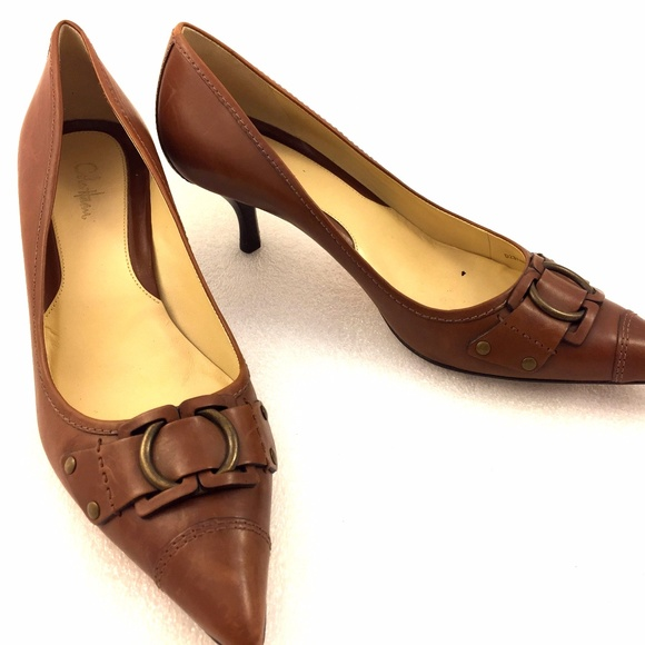 Cole Haan Shoes - Cole Haan Tan Brown Kitten Heel Pumps 10B Point
