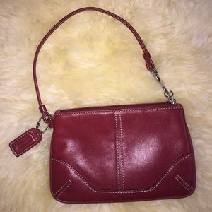 Coach wristlet brown