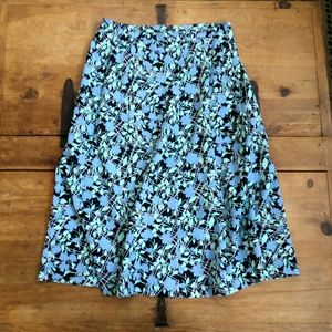 Sag Harber Floral Print Mid-weight Skirt