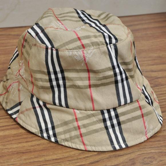 606eea0c980 Burberry Accessories - Vintage Burberry Bucket Hat NOVA CHECK SIZE L