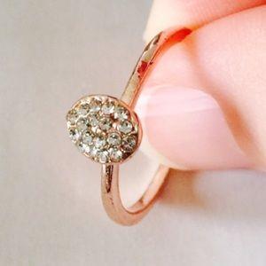 ❗️1 LEFT  Rose Gold Simple Stud Ring