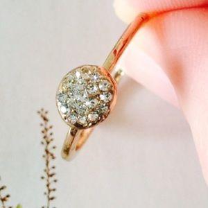 ❗️1 LEFT Chic Simple Stud Gold Ring Sz 7