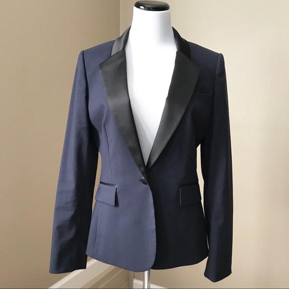 Antonio Melani Jackets Coats Navy Black Tuxedo Blazer Jacket