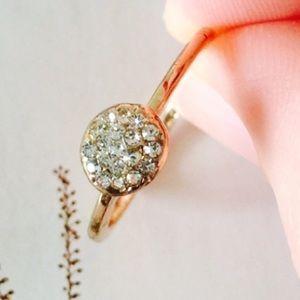 ❗️1 LEFT Chic Simple Stone Gold Ring Sz 8
