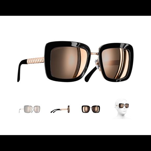 2ecab2db19 ... Buy Chanel Black Gradient 5208 Q Chain Link Square Sunglasses 144955  prevnext Source · CHANEL Accessories Square Spring Sunglasses Poshmark